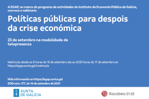 Webinario Políticas públicas para despois da crise económica